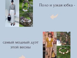 Поло и узкая юбка — самый модный дуэт этой весны